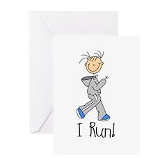 Female I Run Greeting Cards (Pk of 10)