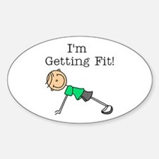 I'm Getting Fit Oval Decal
