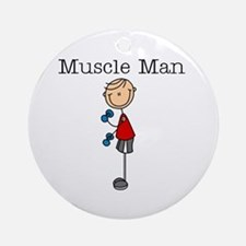Muscle Man Ornament (Round)