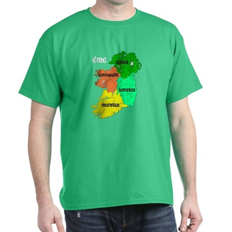 Four Provinces Map Dark T-Shirt