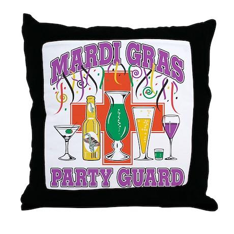 Mardi Gras Party Guard Throw Pillow