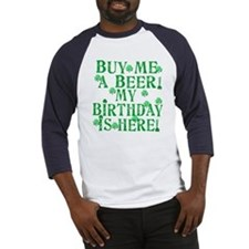 Buy Me a Beer Irish Birthday Baseball Jersey