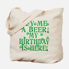 Buy Me a Beer Irish Birthday Tote Bag