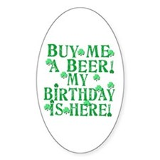 Buy Me a Beer Irish Birthday Decal