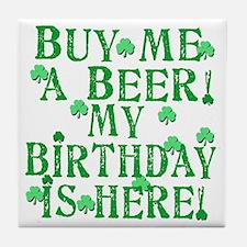 Buy Me a Beer Irish Birthday Tile Coaster