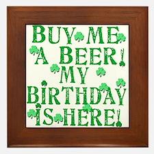 Buy Me a Beer Irish Birthday Framed Tile