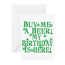 Buy Me a Beer Irish Birthday Greeting Cards (Pk of