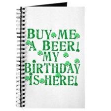 Buy Me a Beer Irish Birthday Journal