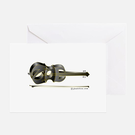 Zoe Black Violin Greeting Card