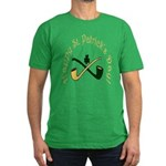 St. Patrick's Day Pipes Men's Fitted T-Shirt (dark