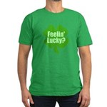Feelin Lucky? Funny St. Patri Men's Fitted T-Shirt