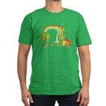 Happy St Patricks Day Rainbow Men's Fitted T-Shirt