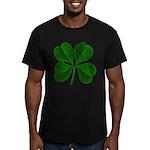 Lucky Four Leaf Clover Men's Fitted T-Shirt (dark)