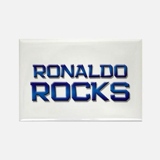 ronaldo rocks Rectangle Magnet