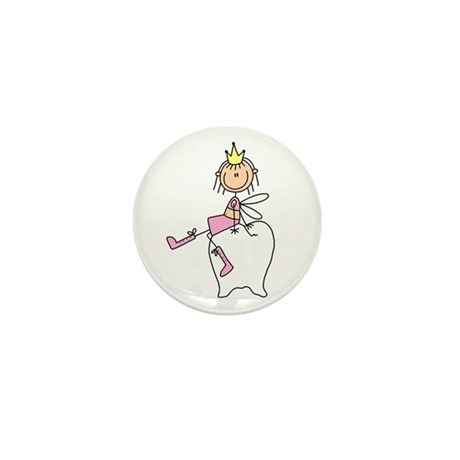 Tooth Fairy on Tooth Mini Button (10 pack)
