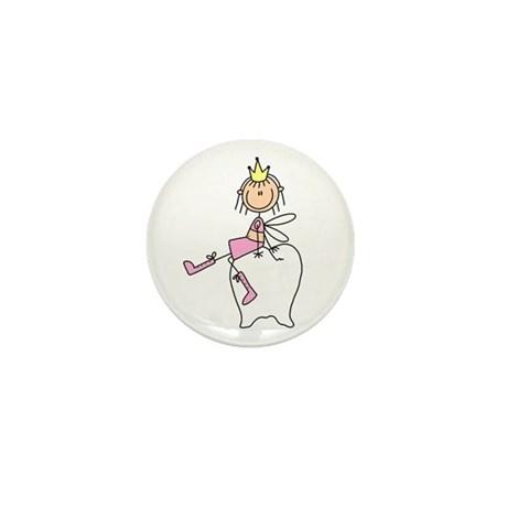 Tooth Fairy on Tooth Mini Button