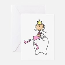 Tooth Fairy on Tooth Greeting Cards (Pk of 10)