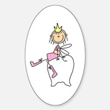 Tooth Fairy on Tooth Oval Decal