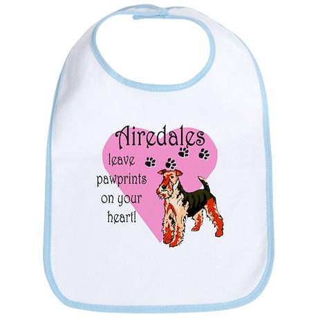 Airedales Pawprints Heart Bib