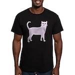 Violet Cat Men's Fitted T-Shirt (dark)