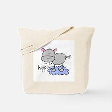 Stick Figure Hippo Tote Bag