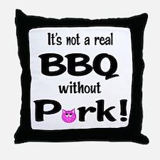 BBQ Requires Pork Throw Pillow
