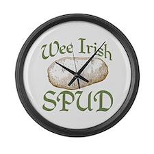 Wee Irish Spud Large Wall Clock