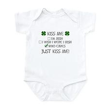 Who Cares, Just Kiss Me Infant Bodysuit
