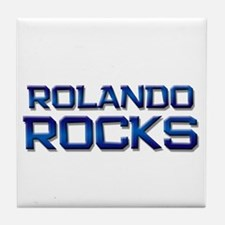 rolando rocks Tile Coaster