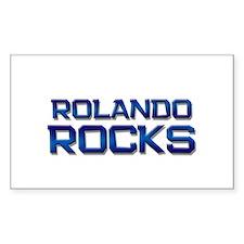 rolando rocks Rectangle Decal