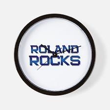 roland rocks Wall Clock