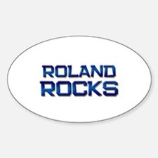 roland rocks Oval Decal