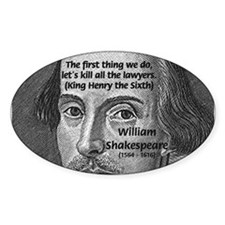 William Shakespeare Oval Decal