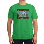 Sleddin' in Heaven Men's Fitted T-Shirt (dark)