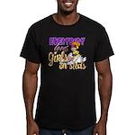 Girls on Sleds Men's Fitted T-Shirt (dark)