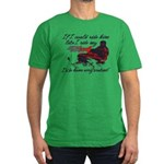 Ride Him Like My Sled Men's Fitted T-Shirt (dark)