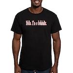 Hello. I'm a sledaholic. Men's Fitted T-Shirt (dar