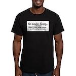 Not tonight, Honey Men's Fitted T-Shirt (dark)