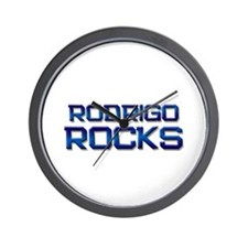 rodrigo rocks Wall Clock
