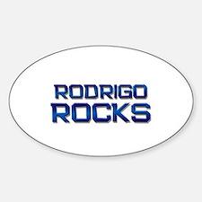 rodrigo rocks Oval Decal
