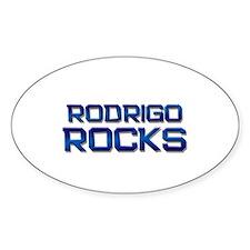 rodrigo rocks Oval Stickers
