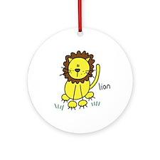 Cute Lion Ornament (Round)