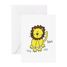 Cute Lion Greeting Card
