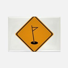 Golf Ahead Rectangle Magnet (10 pack)