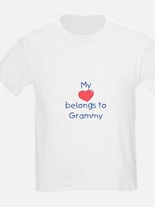 Heart Grammy Blue T-Shirt