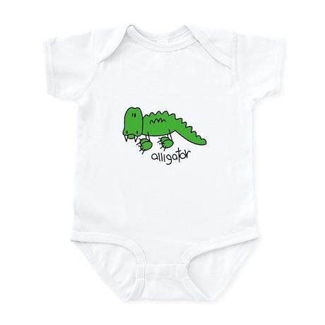 Stick Figure Alligator Infant Bodysuit