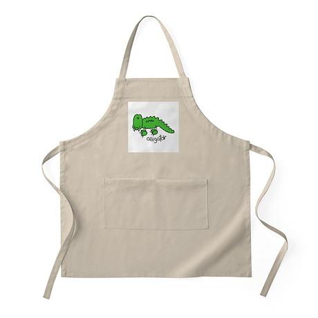 Stick Figure Alligator BBQ Apron