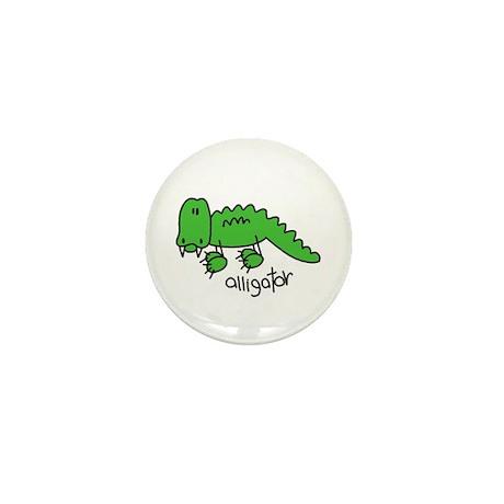Stick Figure Alligator Mini Button