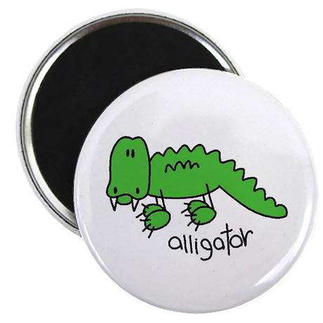 """Stick Figure Alligator 2.25"""" Magnet (100 pack)"""