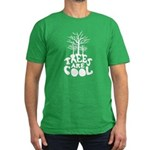 Trees Are Cool Men's Fitted T-Shirt (dark)